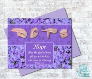 God of Hope Printable Card