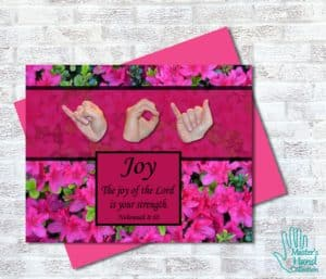 Joy of the Lord Printable Card