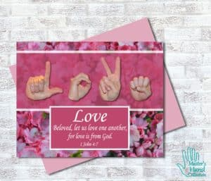 Love One Another Printable Card