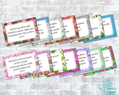 Seeing God's Hand Bible Verse Cards (Set of 14 Scripture Memory Cards)