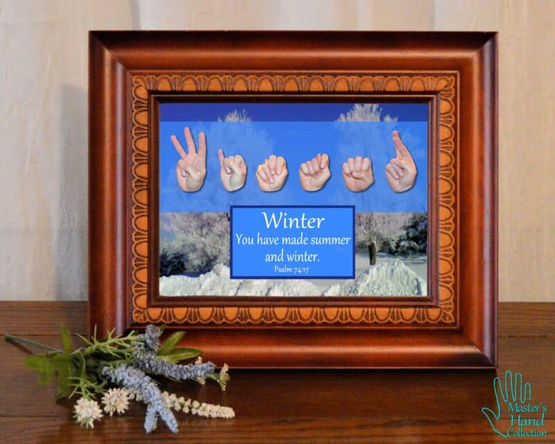 artwork titled Winter by Master's Hand Collection