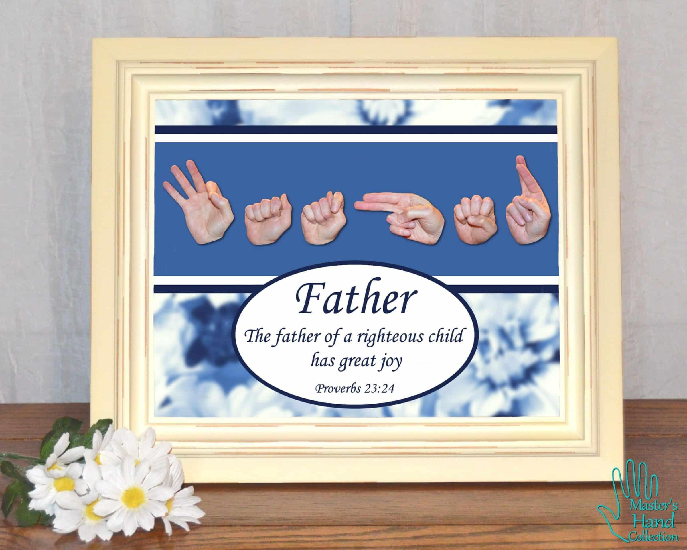 A Father's Joy Printable Art