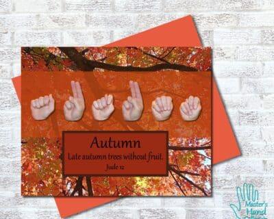 Autumn Printable Card
