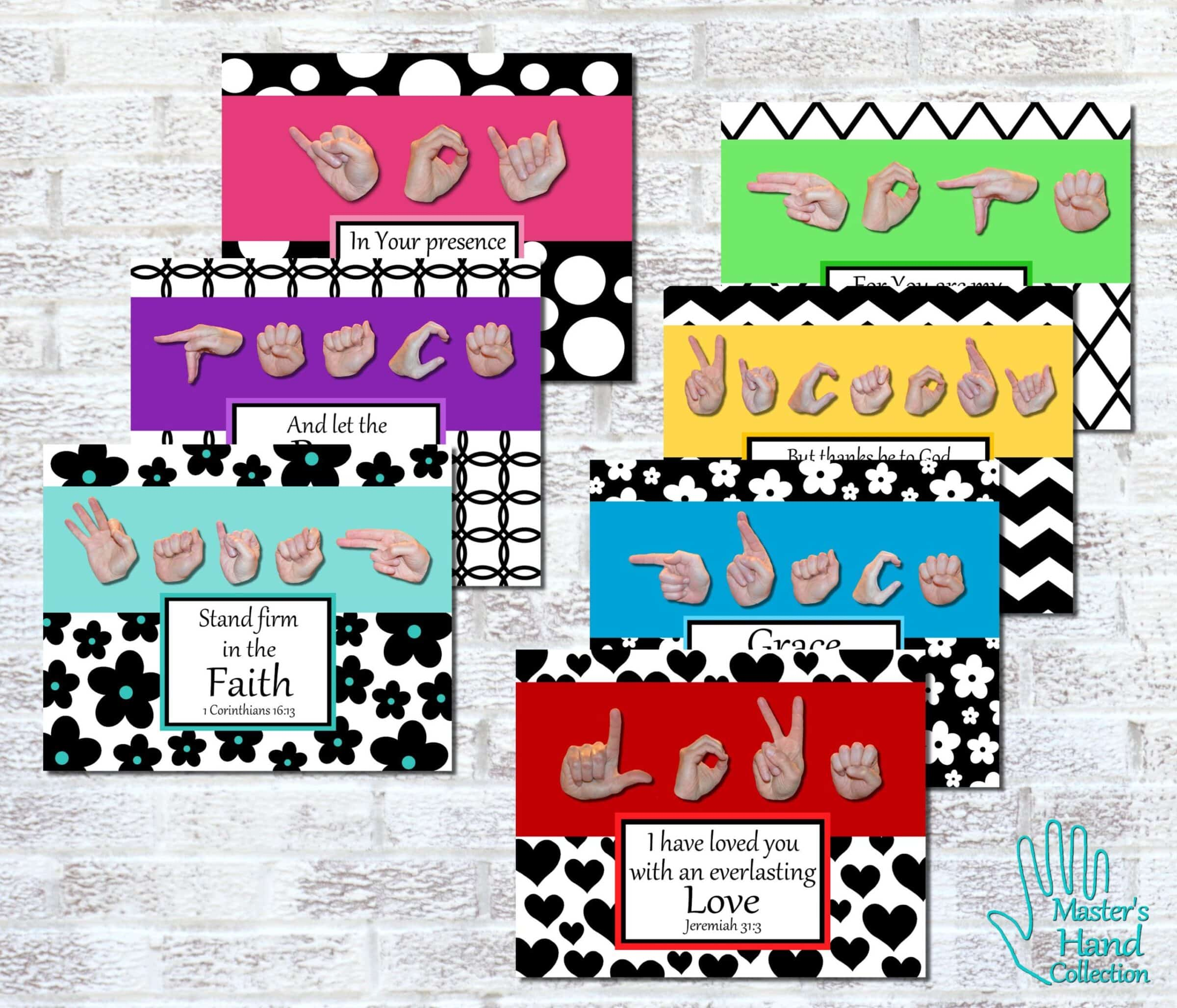 Black and White Bible Verse Art Collection Printables