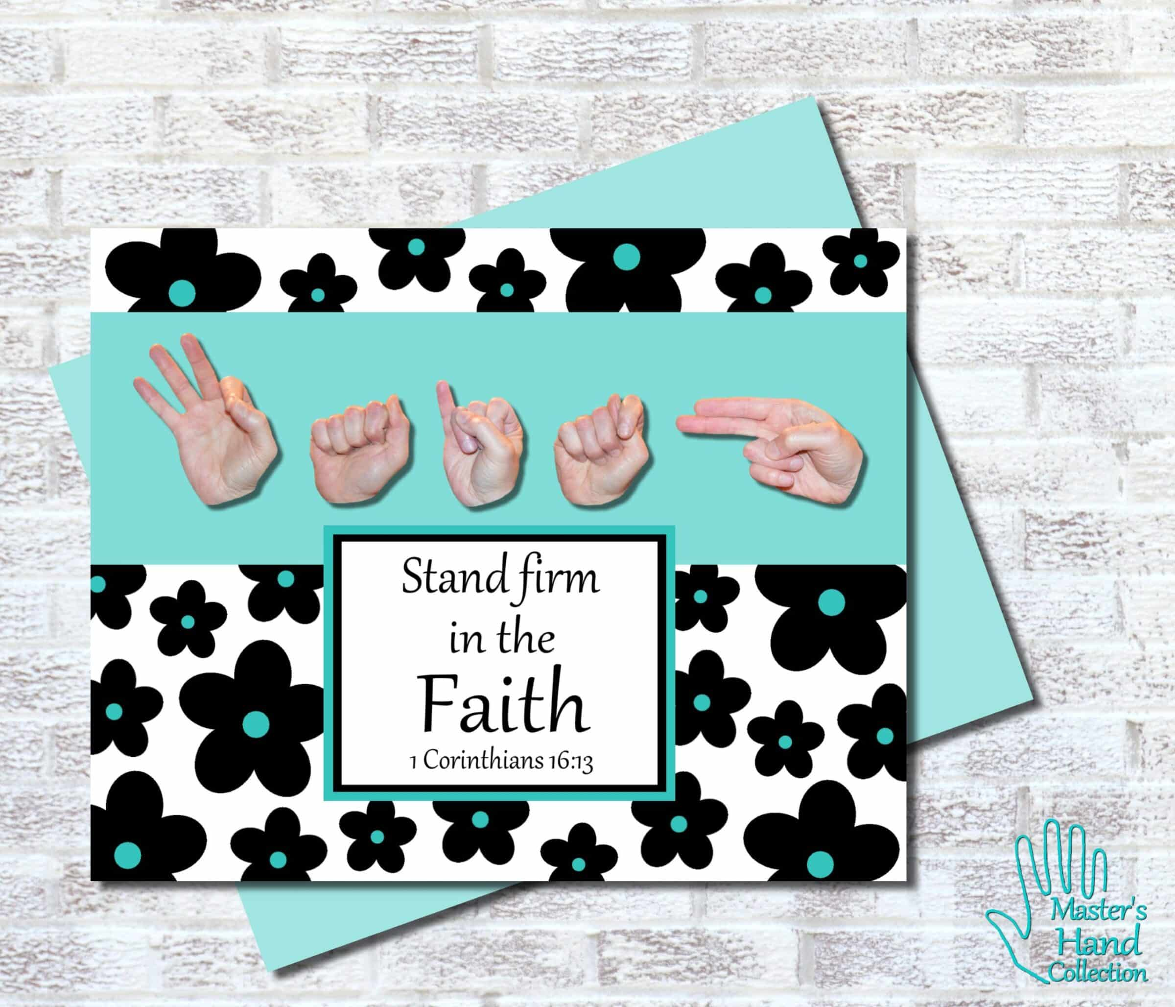Faith B&W Printable Card