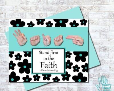 Faith B&W Printable Card