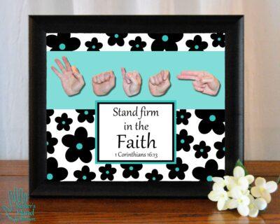 Faith B&W Printable Art