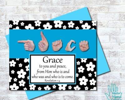 Grace B&W Printable Card