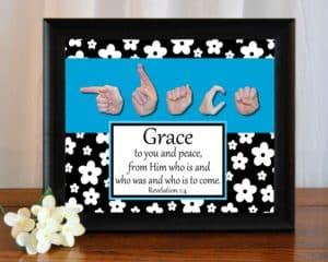 Grace B&W Printable Art