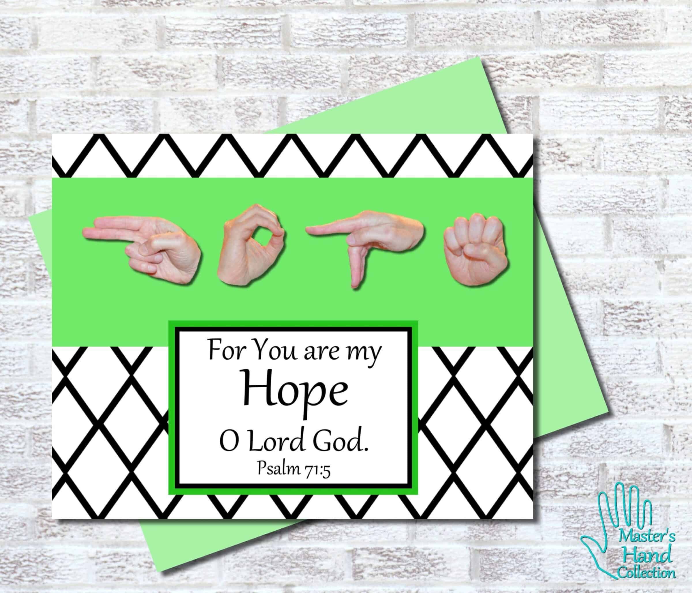Hope B&W Printable Card