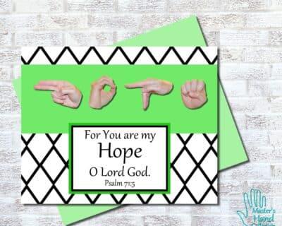 Hope B&W Printable Card