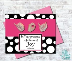 Joy B&W Printable Card