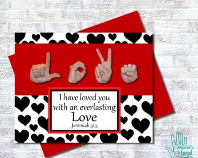 Love B&W Printable Card