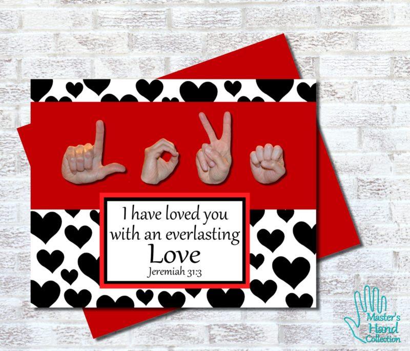 Love B&W Printable Card