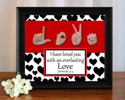 Love B&W Printable Art