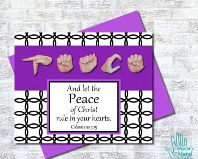 Peace B&W Printable Card