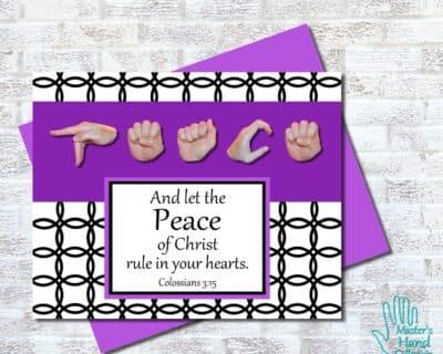 Peace B&W Printable Card
