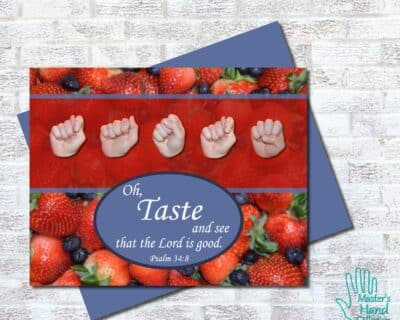 Taste and See Printable Card