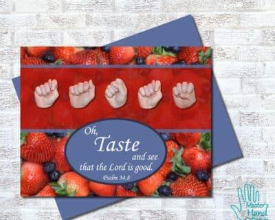 Taste and See Printable Card