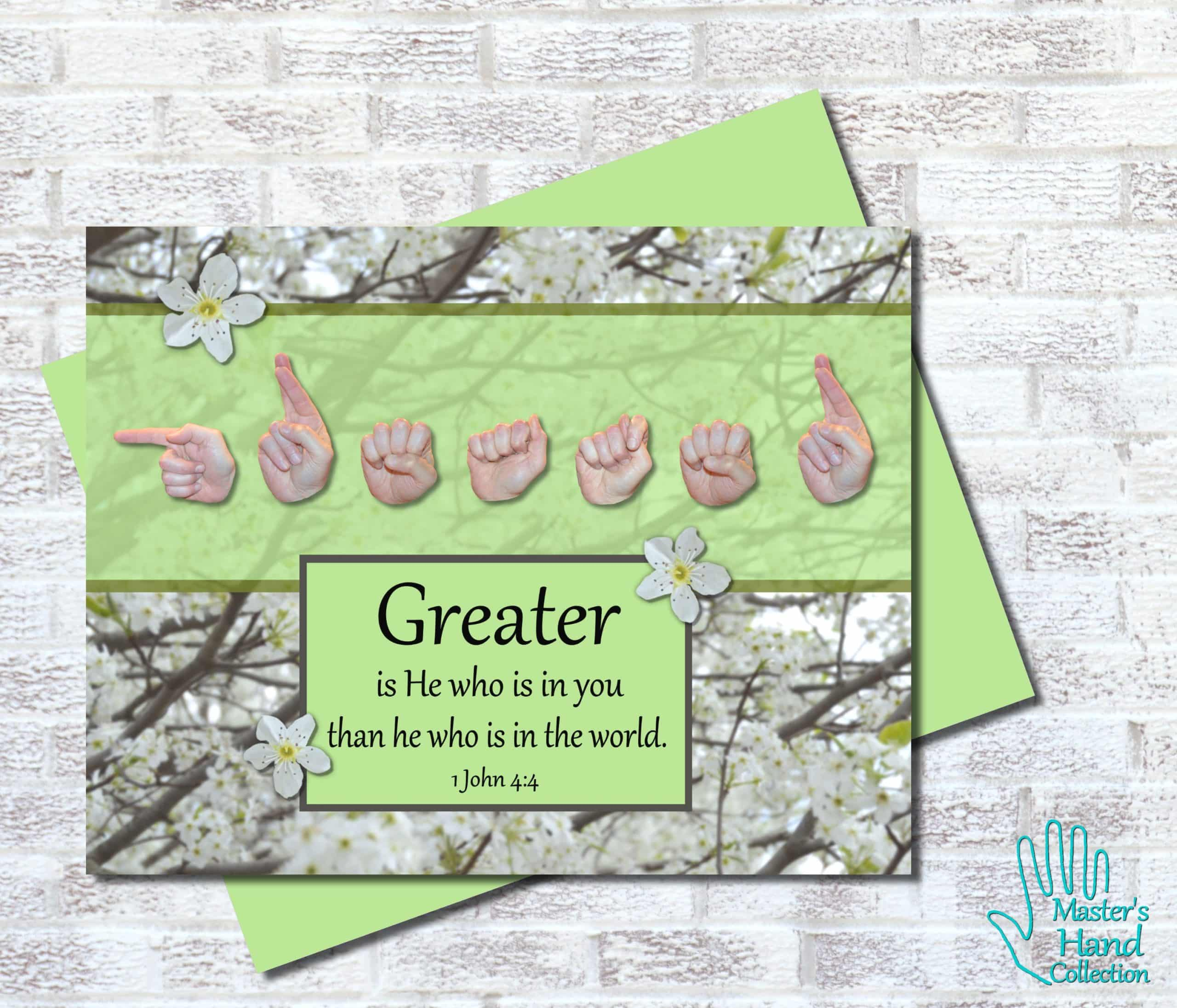 Greater Is He Printable Card