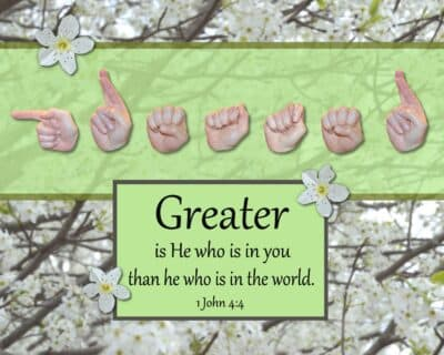 Greater Is He