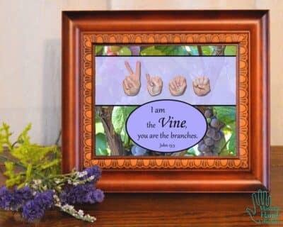 I am the Vine Printable Art