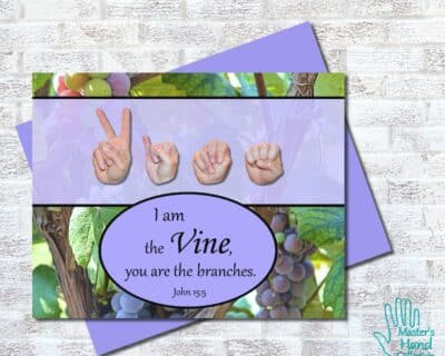 I am the Vine Printable Card