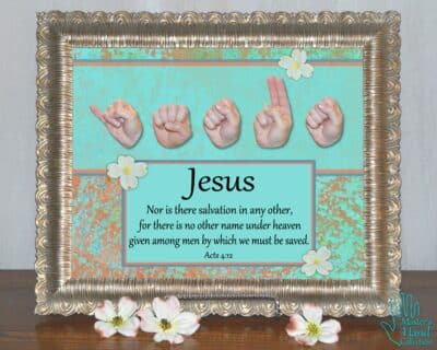 Jesus No Other Name Printable Art
