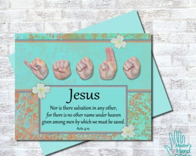 Jesus No Other Name Printable Card