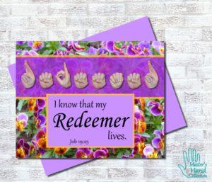 My Redeemer Lives Printable Card