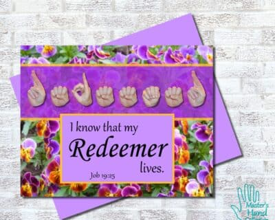 My Redeemer Lives Printable Card