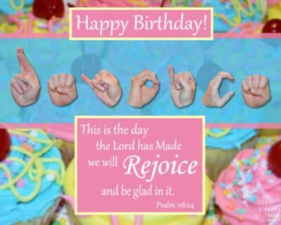 Rejoice and Be Glad Birthday Printable Card