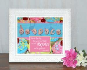 Rejoice and Be Glad Printable Art by Master's Hand Collection