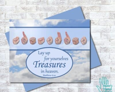 Treasures In Heaven Printable Card