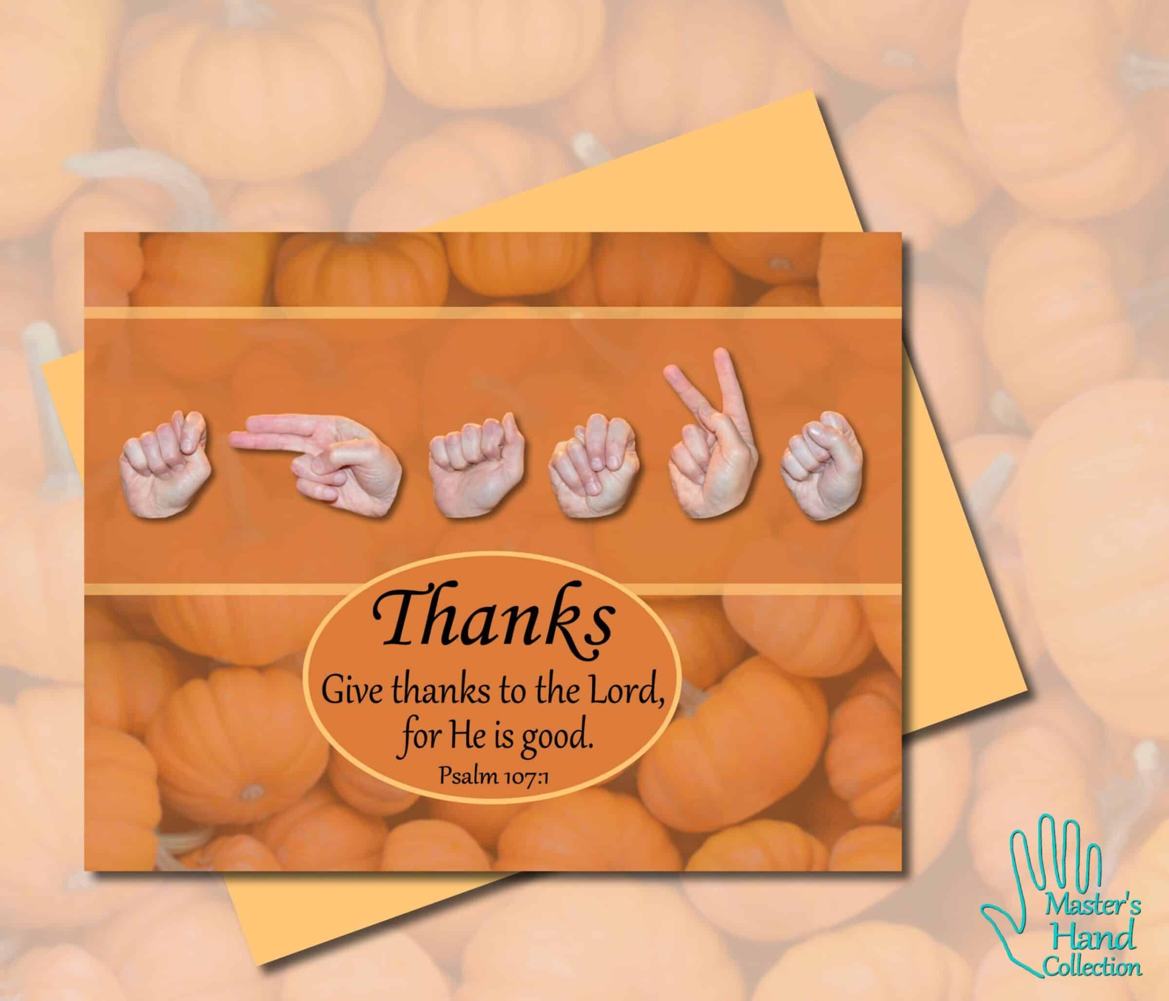 Give Thanks Printable Card by Master's Hand Collection