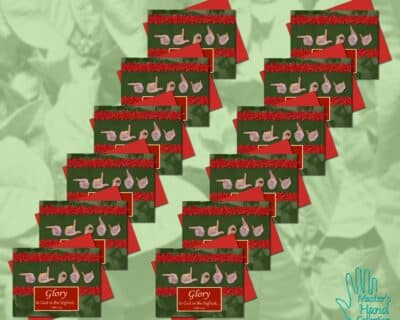 Glory to God Printable Cards (Set of 12)