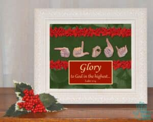 Glory to God Printable Art