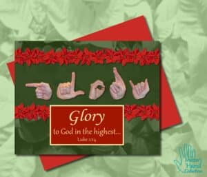 Glory to God Printable Card