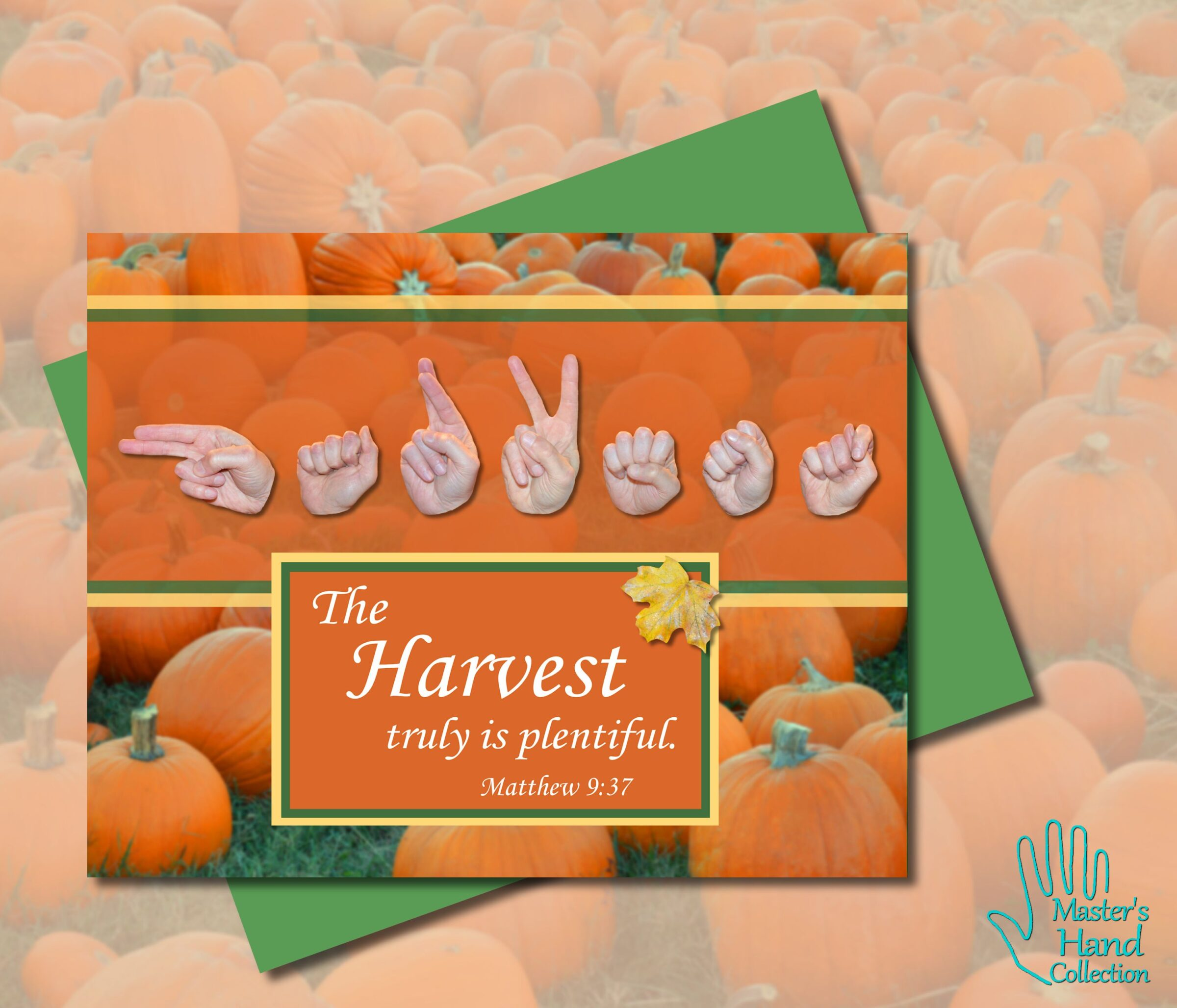 Harvest Printable Card by Master's Hand Collection