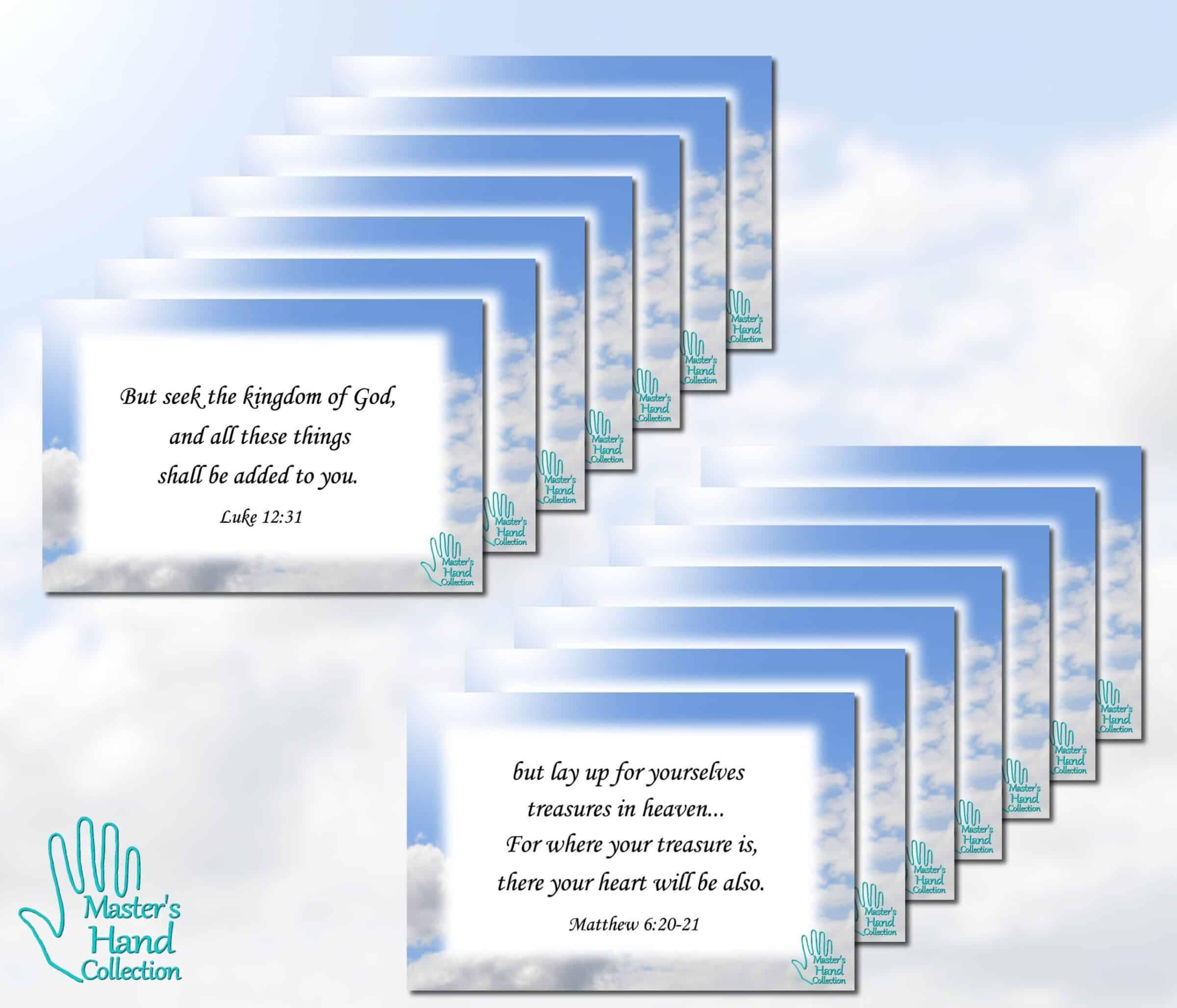 Treasures In Heaven Bible Verse Cards