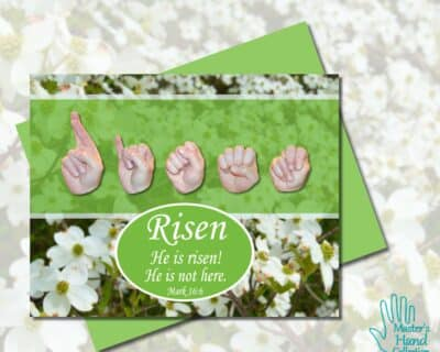 He Is Risen Printable Card