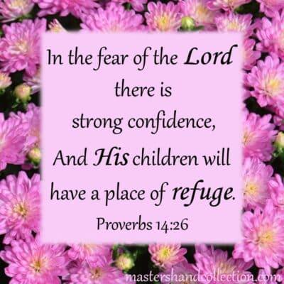 Free Bible Verse Wall Art Printable Proverbs 14:26